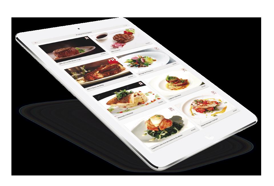 vista de pickly menu em ipad