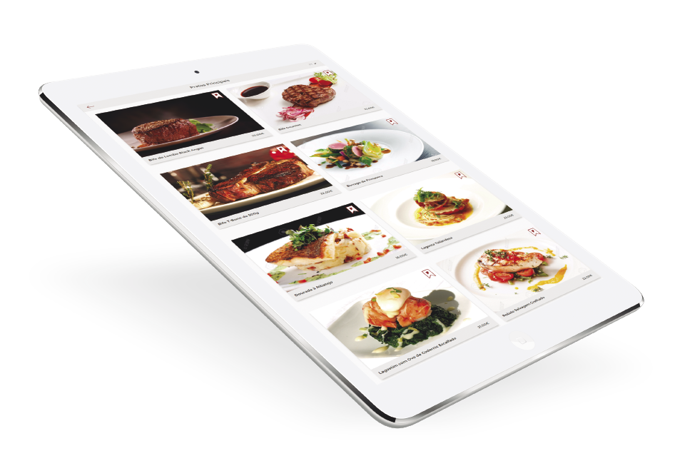tablet com menu digital pickly